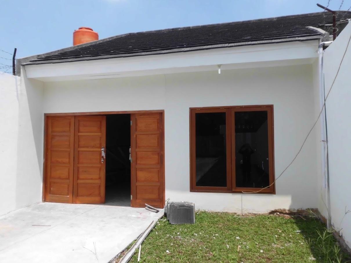 Hasil proyek bangun baru rumah 1 lantai milik Bpk. Faturrahman di Puteri Indah estate, Gunung Putri, Bogor tahun 2011