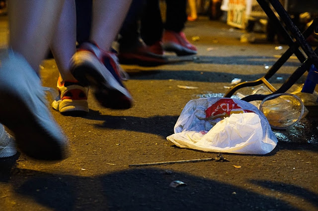 Lào Cai : rác bủa vây sau màn pháo hoa chào đón năm mới 2020