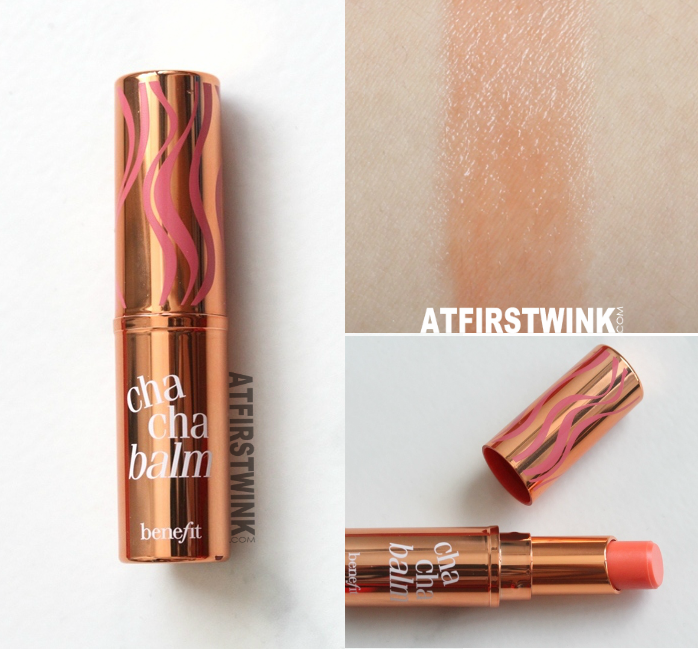 Benefit hydrating tinted lip balm - chachabalm swatch
