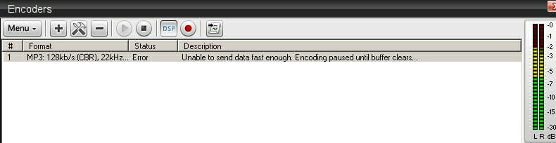 Sam Broadcaster Unable To Send Data Fast Enough