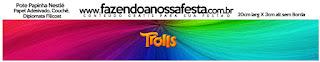 Etiquetas de Trolls para imprimir gratis.