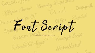 Font-Script