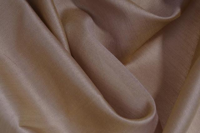 Tan Brown Cotton Silk Fabric