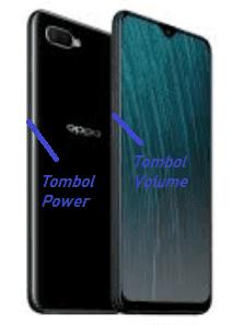 Screenshot dengan menggunakan tombol Kombinasi (power + volume)