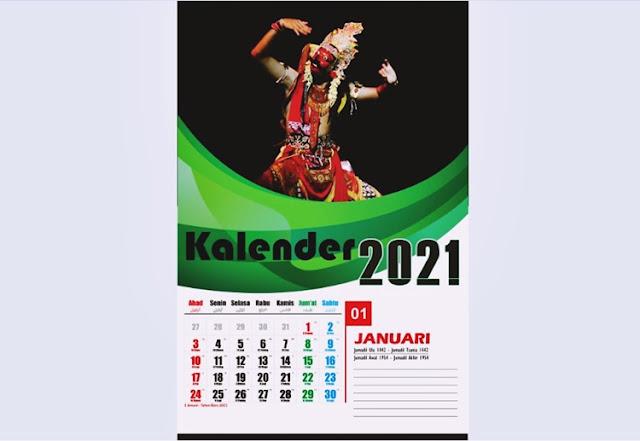 Kalender Dinding 2021 Januari