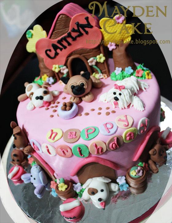Dog Themed Birthday Cake For Caitlyn