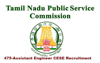 TNPSC CESE Recruitment 2019 475-Assistant Engineer Posts