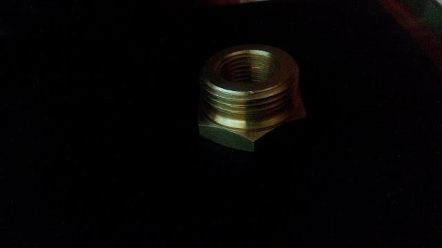 AutoCAD 3D y Render - pieza 5 - Reducción hexagonal 4