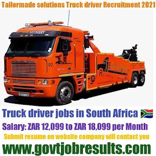 Tailormade Solution Code 14 Truck Driver Recruitment 2021-22