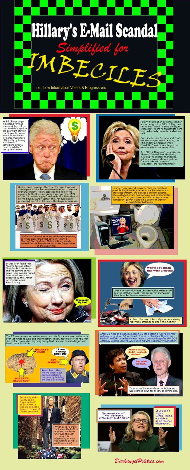 Hilary's E-Mail Scandal for Imbeciles