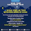ADAB TIDUR DAN BANGUN TIDUR | 3. WUDHU SEBELUM TIDUR & BERBARING MIRING KE KANAN