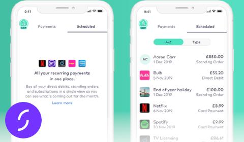Suivi des abonnements dans l'app de Starling Bank