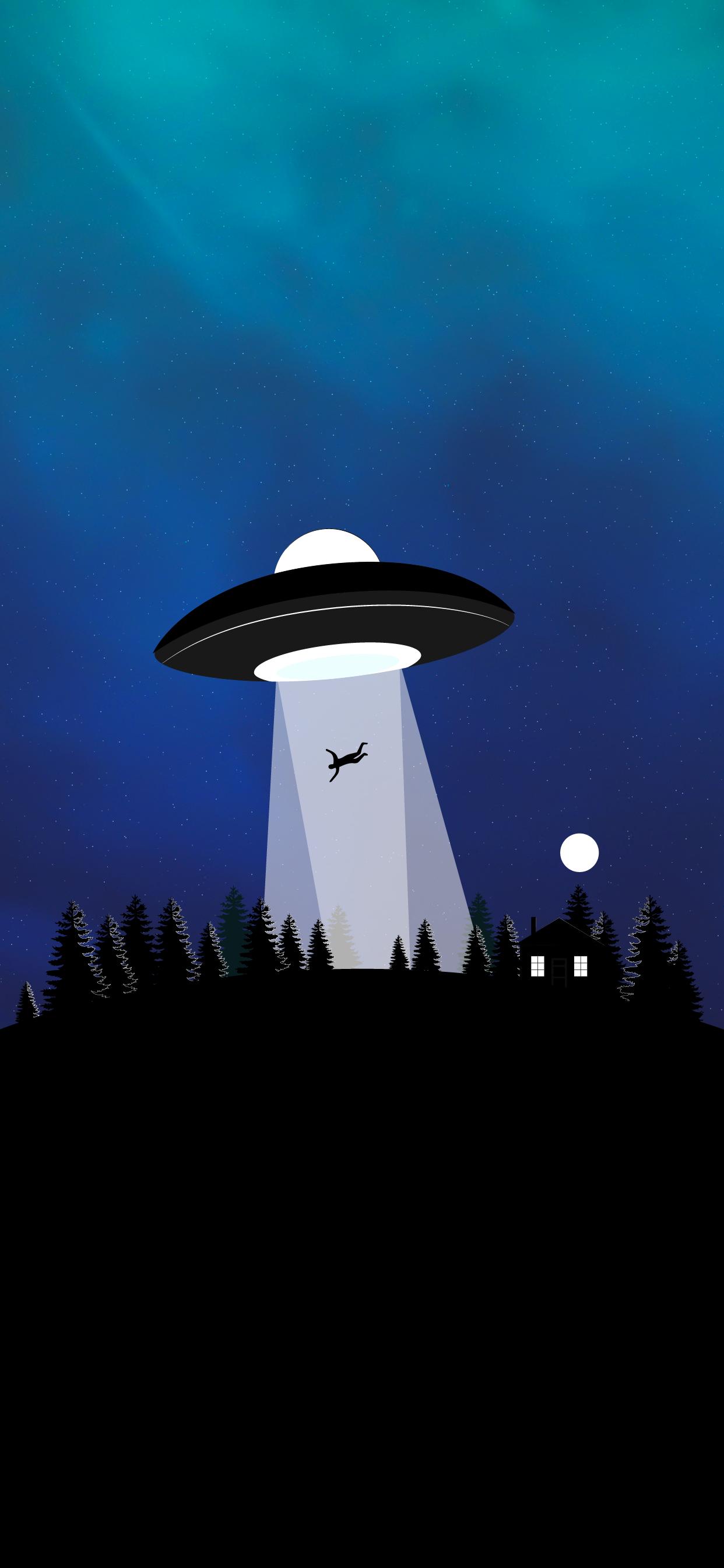 cool iphone wallpaper hd ufo abduction minimalist