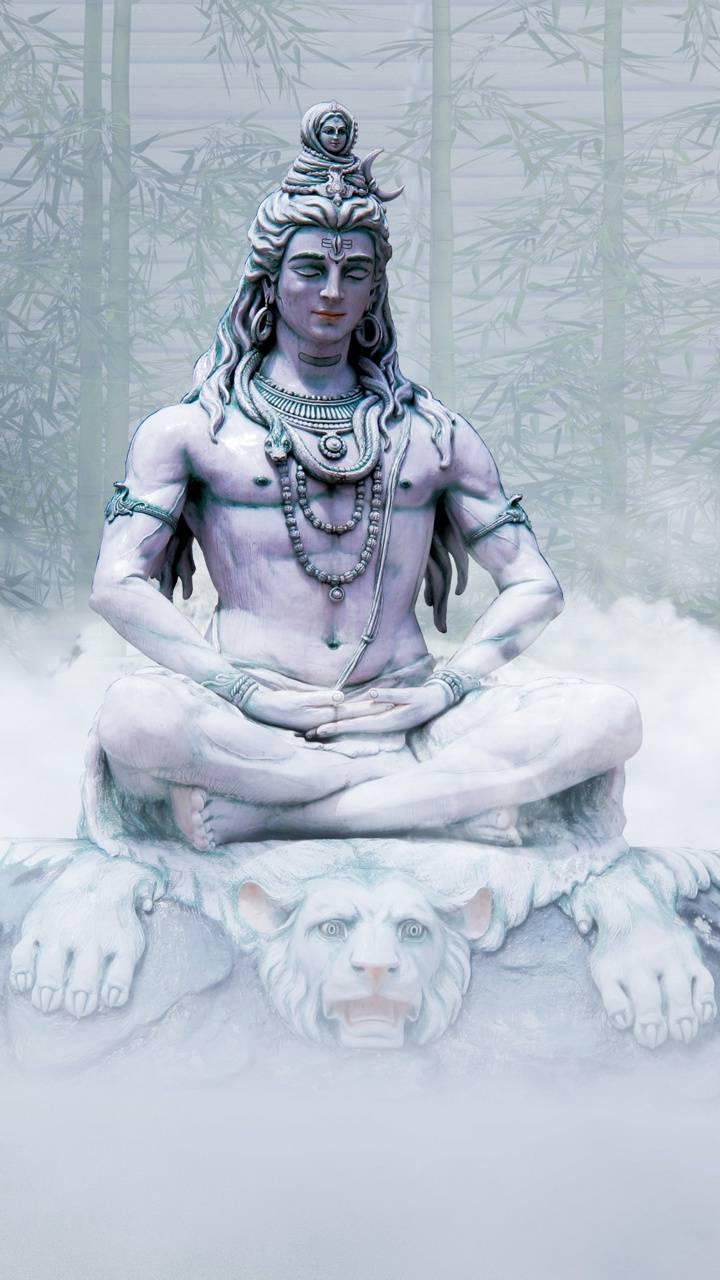 Lord-Shiva-ice-statue-Wallpaper