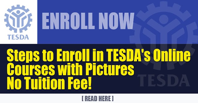 Steps to Enroll in TESDA's Online Courses with Pictures | No Tuition Fee!