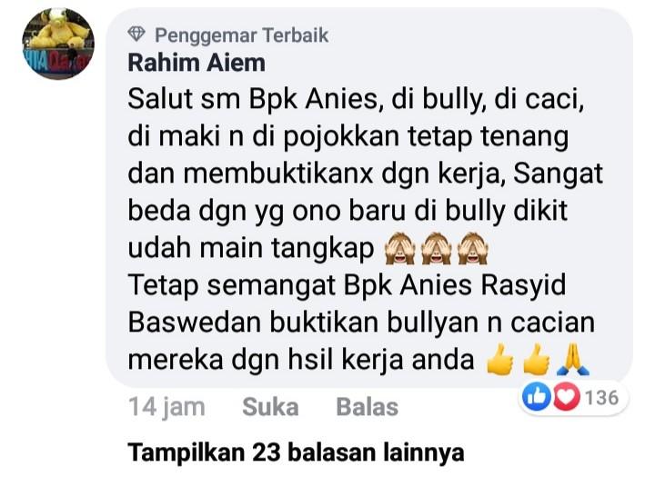 Anies Tetap Berprestasi Meski Panen Bully, Netizen: Beda dengan Ono