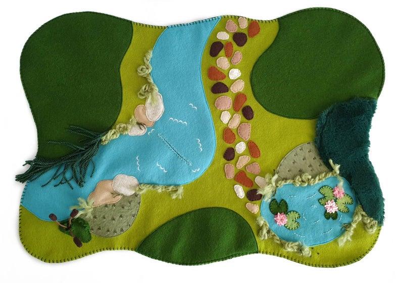 mint and mont designs felt play mat