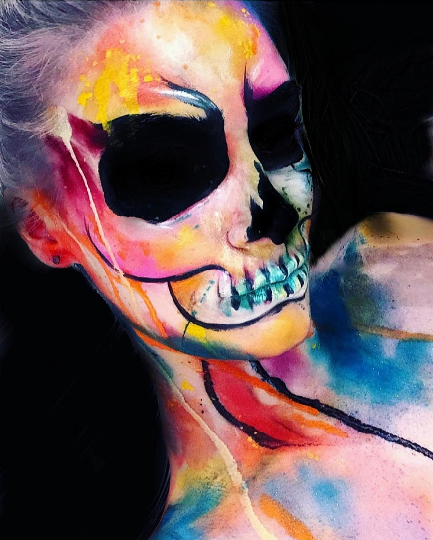 06-Watercolour-Skull-Erika-Marie-Mua-Makeup-Inspirations-for-Halloween-www-designstack-co