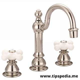 porcelain cross handle bathroom faucets