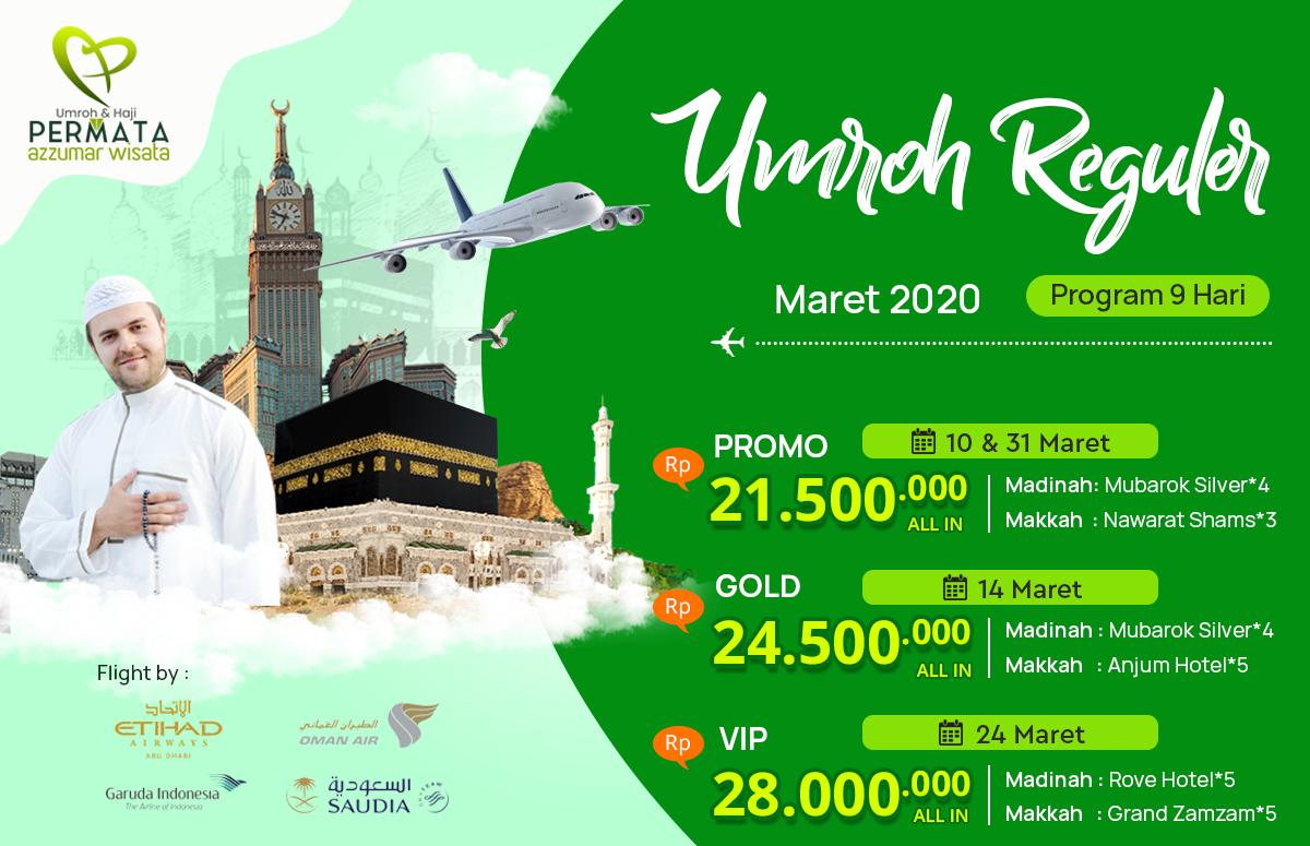 Promo Paket Umroh Biaya Murah Jadwal Bulan maret 2020