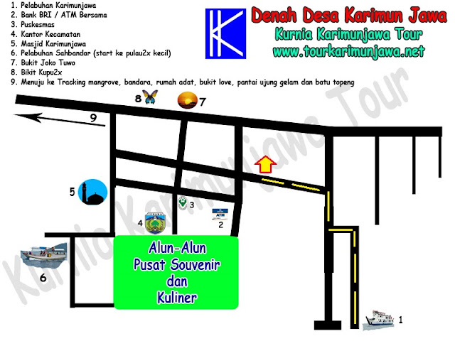 peta lokasi hotel duta karimun jawa