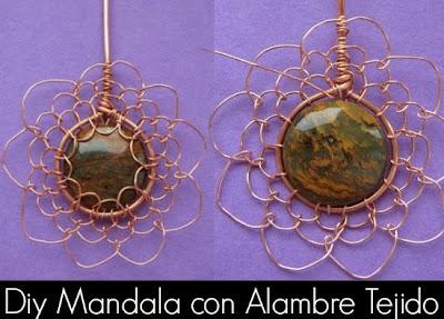 Como hacer un Mandala con Alambre Tejido
