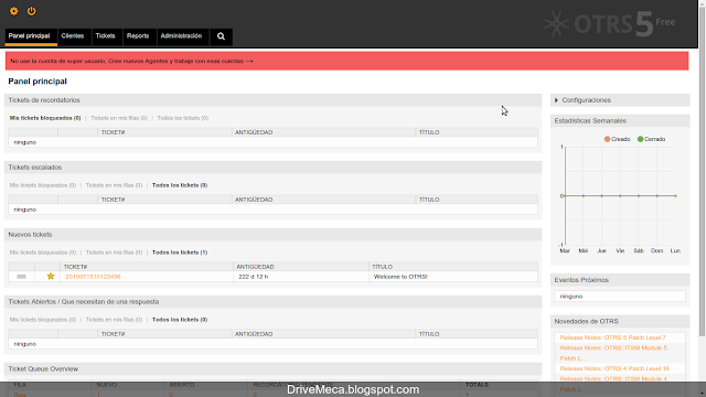 DriveMeca instalando el software de HelpDesk en un servidor Linux Centos 7 paso a paso