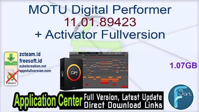 MOTU Digital Performer 11.01.89423 + Activator Fullversion