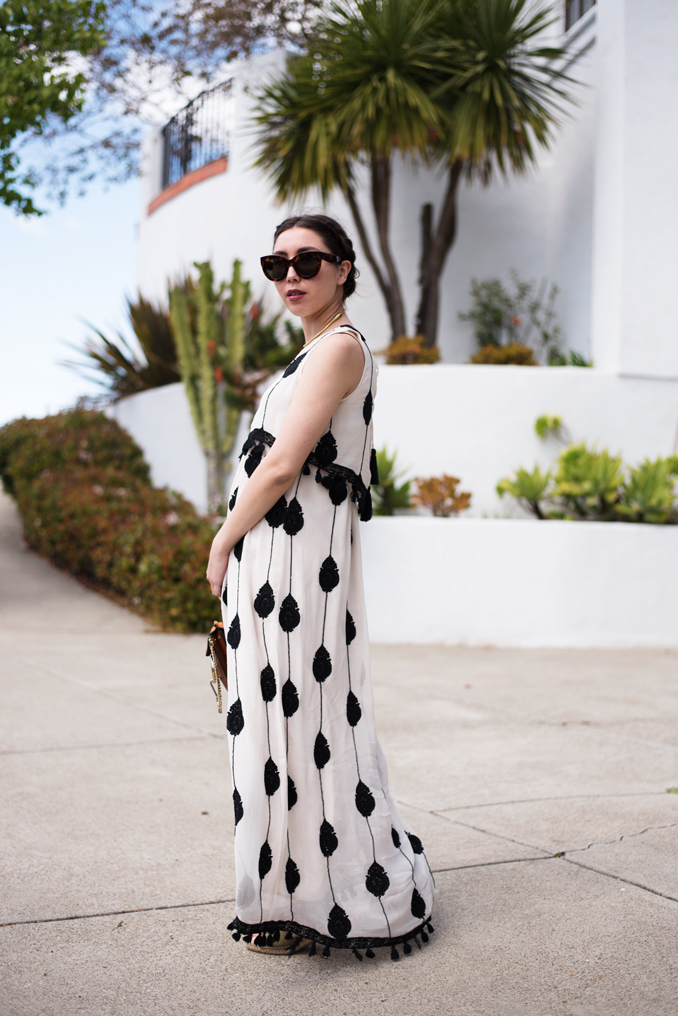 ReadyTwoWear: Tassel hem maxi dress
