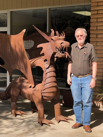 Resident Astronomer George and the Dragon in Borrego Springs (Source: Palmia Observatory)