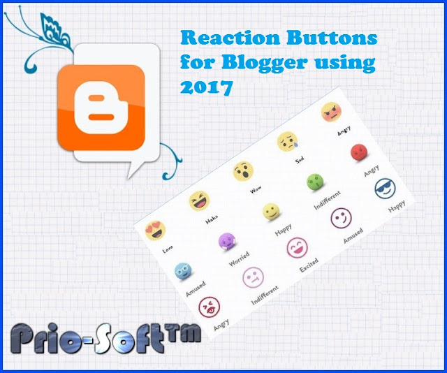 Reaction Buttons for Blogger using 2017