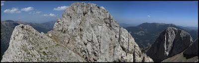 Mirando atrás desde el Pollegó superior del Pedraforca