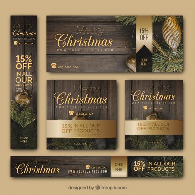 plantillas editables en psd de tarjetas de navidad
