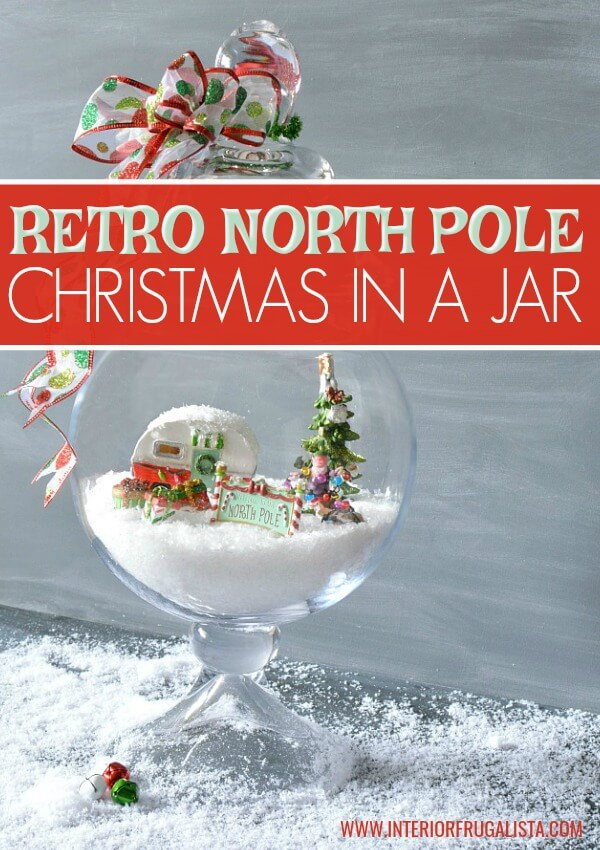 Retro North Pole Christmas In A Jar
