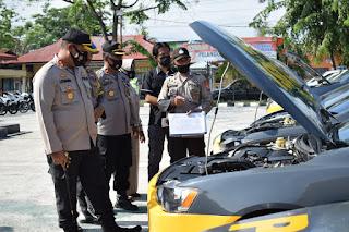 Kapolres Sidrap AKBP Leonardo Cek Kesiapan dan Kelengkapan Kendaraan Dinas
