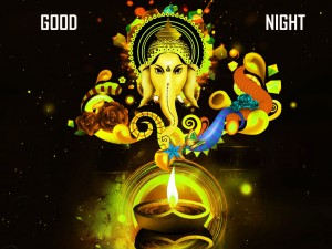 Lord Ganesha Good Night Picture