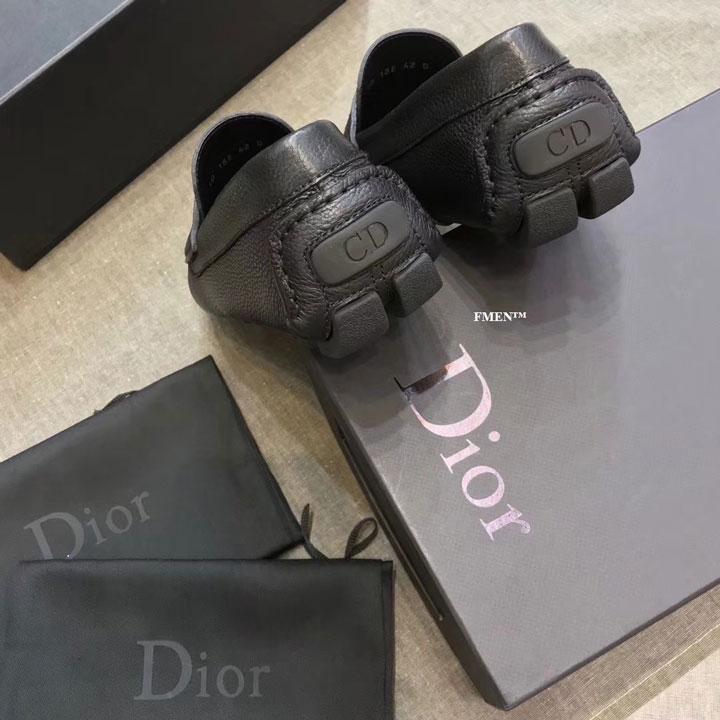 Giày lười Dior nam đế bệt màu đen siêu cấp GNDI-877