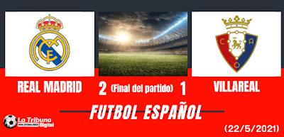 REAL MADRID VS VILLA REAL