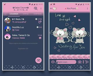 Cat Love Theme For YOWhatsApp & Fouad WhatsApp By Geise