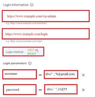 Crawler Access and Login details
