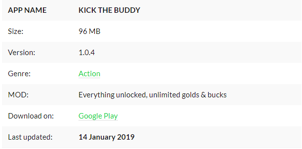 kick the buddy mod apk all unlocked download