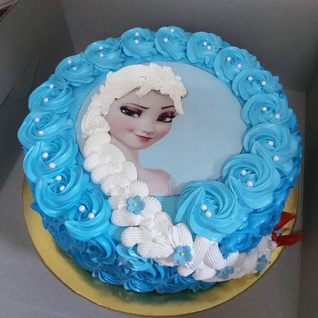 Frozen Hair Braid Birthday Cake Album 1 Muffin Kaseh Azean