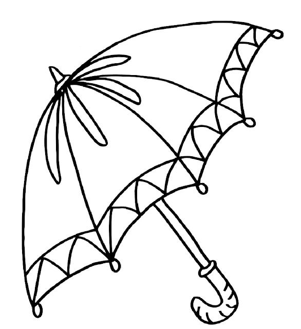 Gambar Mewarnai Payung - 6
