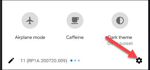 قائمة إعدادات android