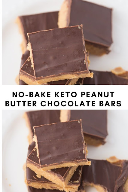 NO-BAKE KETO PEANUT BUTTER CHOCOLATE BARS