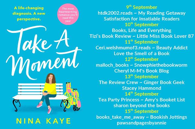 Take A Moment by Nina Kaye blog tour banner