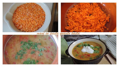 curried red lentil soup