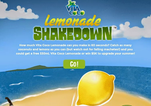 Free VitaCoco Lemonade & Chance for $5K