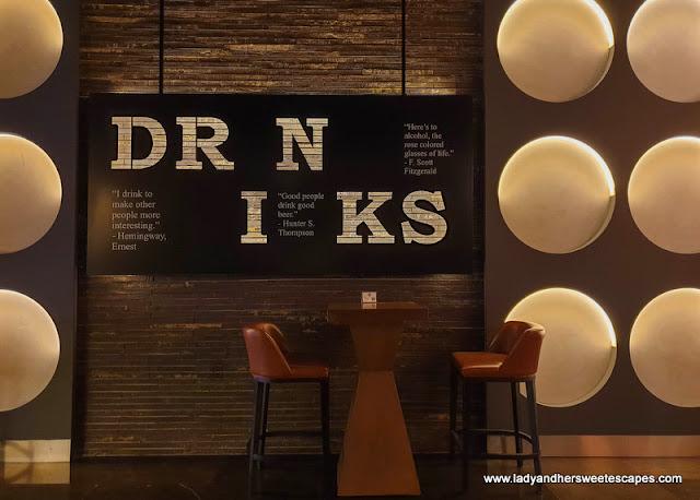 stylish bar in Pullman Hotel Dubai