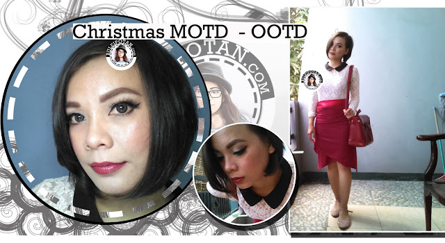 Detail Makeup : Be my RED Christmas Makeup + Outfit